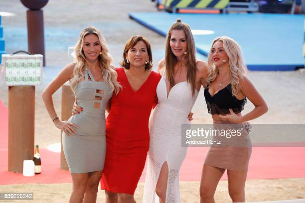 Maria Hering Claudia Obert Sarah Kern and Evelyn Burdecki attend the finals of 'Promi Big Brother 2017' at MMC Studio on August 25 2017 in Cologne...