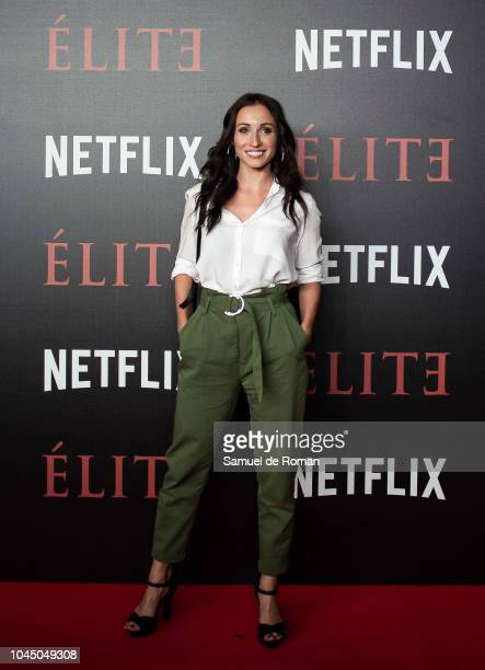 Maria Hinojosa attends the World Premiere of Netflixs 'Elite' at Nubel on October 2, 2018 in Madrid, Spai