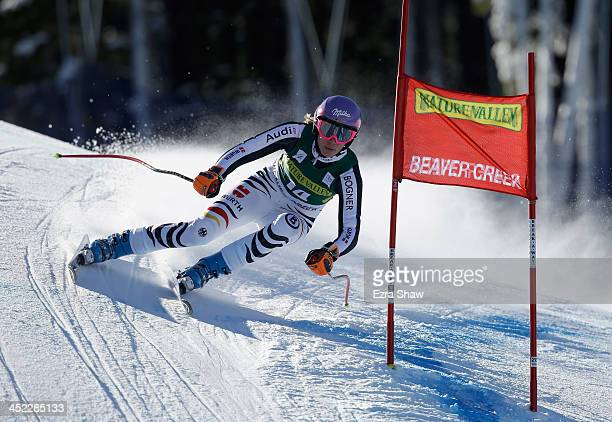 Maria HoeflFiesch of Germany during day 2 of training on Raptor for the FIS Beaver Creek Ladies Downhill World Cup on November 27 2013 in Beaver...