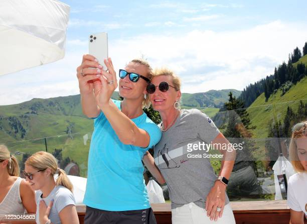 """Maria Hoefl-Riesch and Anita Harisch during the first Ladies Day and start of the """"Queens Club"""" hosted by Maria Hoefl-Riesch on June 26, 2020 at..."""