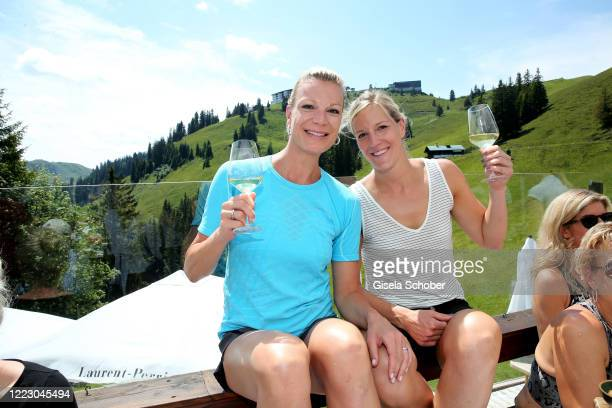 """Maria Hoefl-Riesch and her sister Susanne Riesch during the first Ladies Day and start of the """"Queens Club"""" hosted by Maria Hoefl-Riesch on June 26,..."""