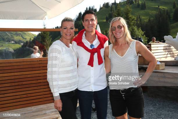 Maria HoeflRiesch and Marcus Hoefl and Susanne Riesch during the first Ladies Day and start of the Queens Club hosted by Maria HoeflRiesch on June 26...