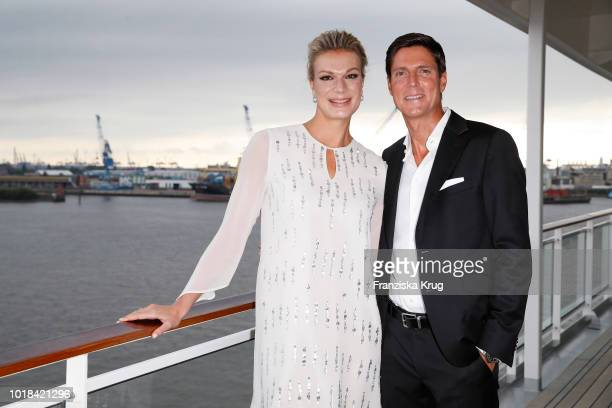 Maria HoeflRiesch and Marcus Hoefl during the FASHION2NIGHT event on board the EUROPA 2 on August 17 2018 in Hamburg Germany
