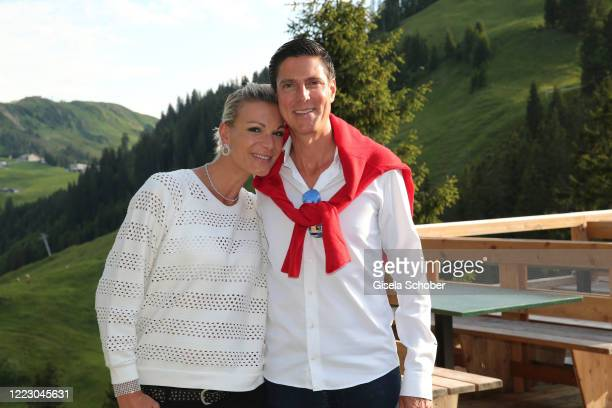 """Maria Hoefl-Riesch and Marcus Hoefl during the first Ladies Day and start of the """"Queens Club"""" hosted by Maria Hoefl-Riesch on June 26, 2020 at..."""