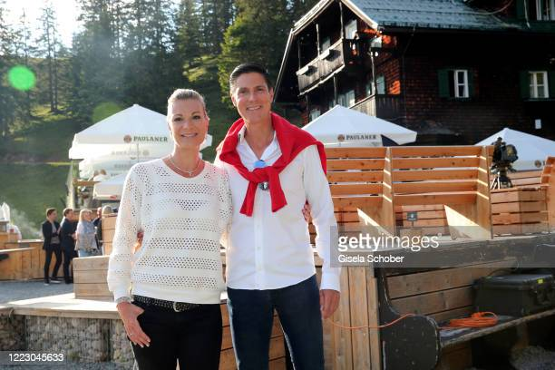 Maria HoeflRiesch and Marcus Hoefl during the first Ladies Day and start of the Queens Club hosted by Maria HoeflRiesch on June 26 2020 at...