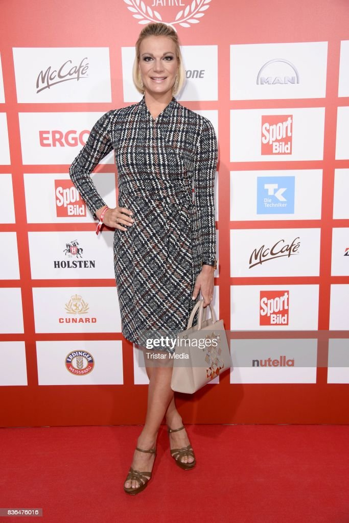 Maria Hoefl-Riesch attends the Sport Bild Award on August 21, 2017 in Hamburg, Germany.