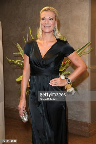 Maria HoeflRiesch during the 11th GRK Golf Charity Masters reception on August 11 2018 at The Westin Hotel in Leipzig Germany