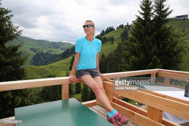 """Maria Hoefl-Riesch during the first Ladies Day and start of the """"Queens Club"""" hosted by Maria Hoefl-Riesch on June 26, 2020 at Berggasthof Sonnbuehel..."""