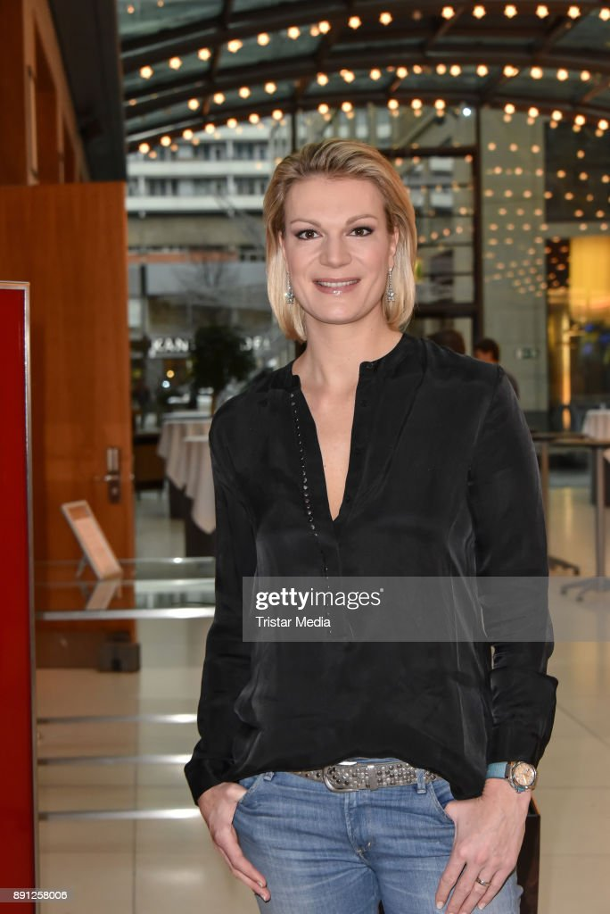 Maria Hoefl-Riesch during the Olympia Press Conference on December 12, 2017 in Berlin, Germany.