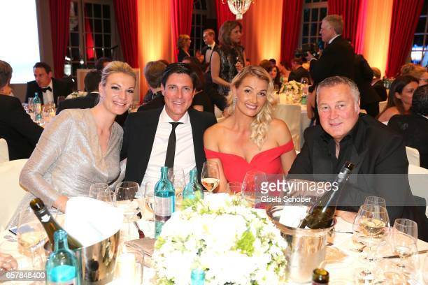 Maria Hoefl-Riesch, Marcus Hoefl, Franziska van Almsick, Juergen Harder during the Gala Spa Awards at Brenners Park-Hotel & Spa on March 25, 2017 in...