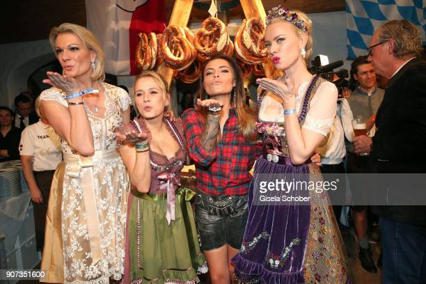 Maria HoeflRiesch Nova Meierhenrich Sophia Thomalla Franziska Knuppe during the 27th Weisswurstparty at Hotel Stanglwirt on January 19 2018 in Going...
