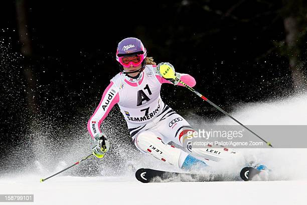 Maria HoeflRiesch of Germany competes during the Audi FIS Alpine Ski World Cup Women's Slalom on December 29 2012 in Semmering Austria