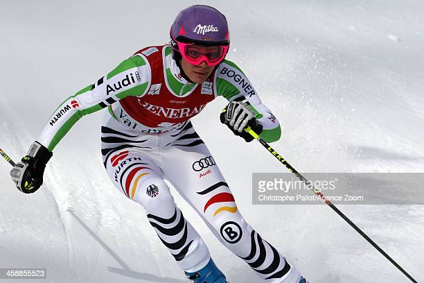 Maria HoeflRiesch of Germany competes during the Audi FIS Alpine Ski World Cup Women's Giant Slalom on December 22 2013 in Val d'Isere France