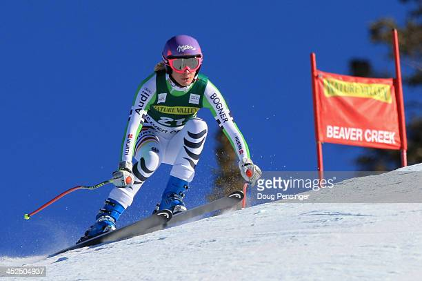 Maria HoeflRiesch of Germany ladies' downhill on Raptor at the Audi FIS Alpine World Cup at Beaver Creek on November 29 2013 in Beaver Creek Colorado