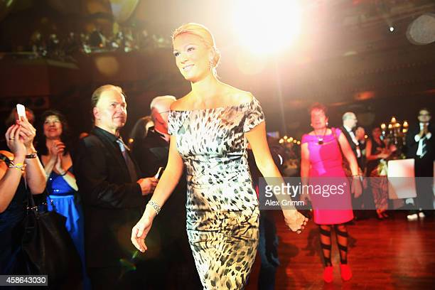 Maria HoeflRiesch receives the 'Legend of Sports' award during the German Sports Media Ball at Alte Oper on November 8 2014 in Frankfurt am Main...