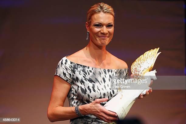 Maria HoeflRiesch receives the PEGASOS 'Legend of Sports' award during the German Sports Media Ball at Alte Oper on November 8 2014 in Frankfurt am...