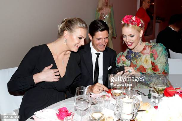 Maria HoeflRiesch wearing a dress by Minx Marcus Hoefl and Franziska Knuppeduring the Rosenball charity event at Hotel Intercontinental on May 5 2018...