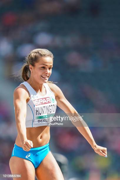 Maria Huntington of Finland during high jump Decathlon for women at the Olympic Stadium in Berlin at the European Athletics Championship on 8/8/2018