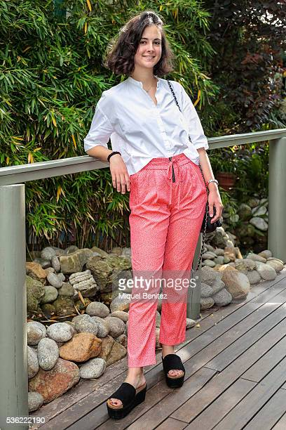 Maria is wearing a Zara blouse Maison Scotch trousers Andreas black sandals Zadig Voltaire handbag and a Rolex watch at the Market Outlet Los Tilos...