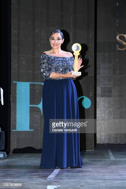 Maria Isabel Diaz Lago attends the second day of Filming Italy Sardegna Festival 2020 at Forte Village Resort on July 23 2020 in Cagliari Italy