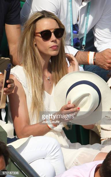 Maria Isabel Nadal sister of Rafael Nadal of Spain during Day 13 of the 2018 French Open at Roland Garros stadium on June 8 2018 in Paris France