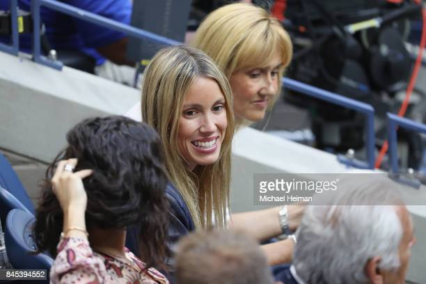 Maria Isabel Nadal watches the Men's Singles finals match between Kevin Anderson of South Africa and Rafael Nadal of Spain on Day Fourteen of the...