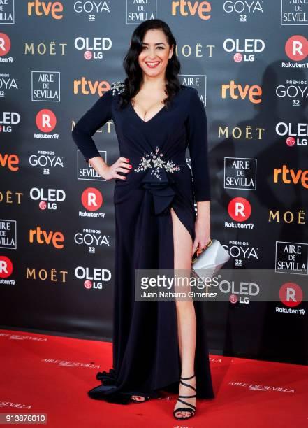 Maria Isasi attends Goya Cinema Awards 2018 at Madrid Marriott Auditorium on February 3 2018 in Madrid Spain