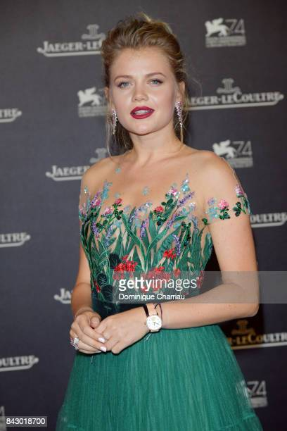 Maria Ivakova arrives for the Jaeger-LeCoultre Gala Dinner during the 74th Venice International Film Festival at Arsenale on September 5, 2017 in...