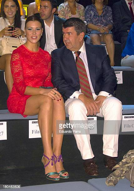 Maria Jesus Ruiz and Jose Maria Gil attend a fashion show during the Mercedes Benz Fashion Week Madrid Spring/Summer 2014 on September 13 2013 in...