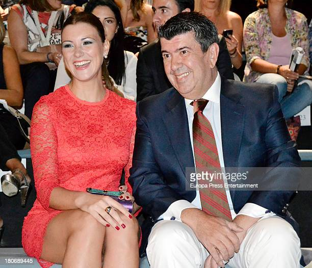 Maria Jesus Ruiz and Jose Maria Gil Silgado attend a fashion show during the Mercedes Benz Fashion Week Madrid Spring/Summer 2014 on September 13...