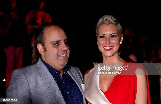 Maria Jesus Ruiz and Julio Ruz attend Miguel Marinero show at Mercedes Benz Fashion Week Madrid Spring/ Summer 2019 on July 8 2018 in Madrid Spain on...