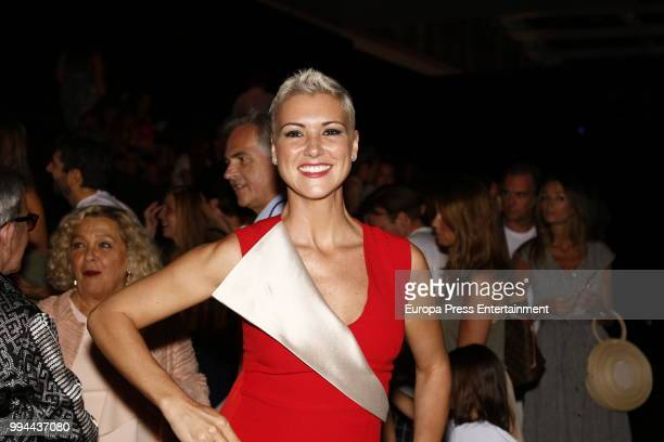 Maria Jesus Ruiz attends Miguel Marinero show at Mercedes Benz Fashion Week Madrid Spring/ Summer 2019 on July 8 2018 in Madrid Spain on July 8 2018...