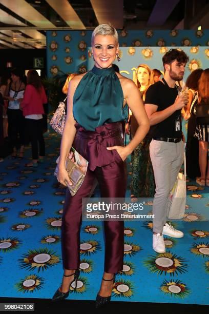 Maria Jesus Ruiz attends the Hannibal Laguna show at Mercedes Benz Fashion Week Madrid Spring/ Summer 2019 on July 10 2018 in Madrid Spain