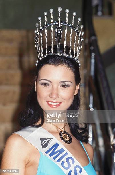 Maria Jesus Ruiz elected Miss Spain 2004 in Marina d'Or 28th March 2004 Oropesa Castellon Spain