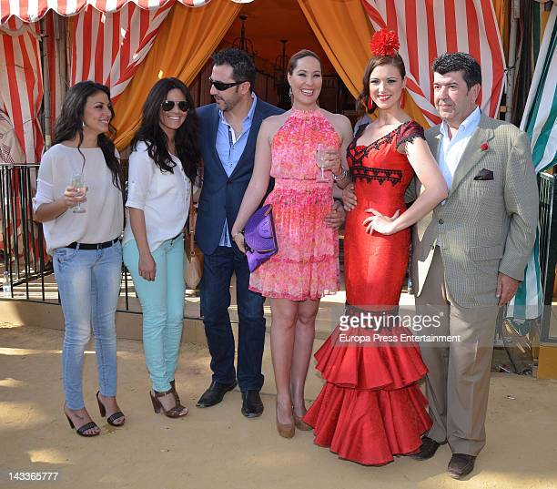 Maria Jesus Ruiz Jose Maria Gil Salgado Chayo Mohedano Andres Fernandez and Nani Gaitan attend 'Feria de Abril 2012' the traditional Seville's April...
