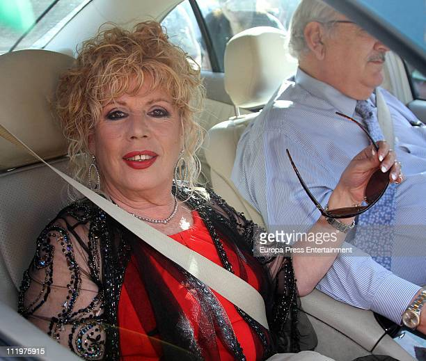 Maria Jimenez attends Chayo Mohedano and Andres Fernandez wedding at Yerbabuena country house on April 9 2011 in Seville Spain