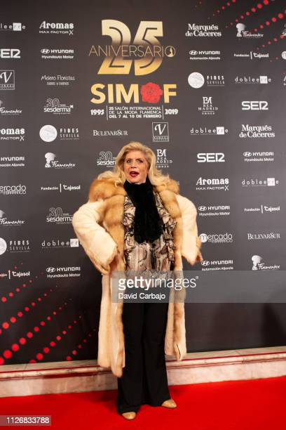 Maria Jimenez attends the SIMOF Gala 25th Anniversary awards on February 01 2019 in Seville Spain