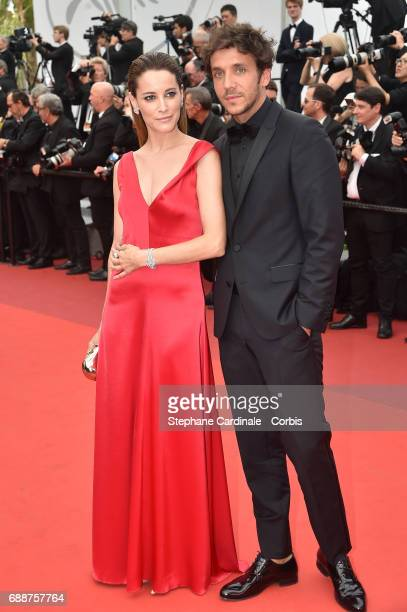 Maria Joao Bastos and a guest attend 'Amant Double ' Red Carpet Arrivals during the 70th annual Cannes Film Festival at Palais des Festivals on May...