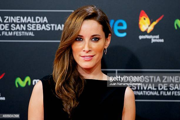 Maria Joao Bastos attends 'Casanova Variations' premiere during 62nd San Sebastian International Film Festival at the Kursaal Palace on September 22...