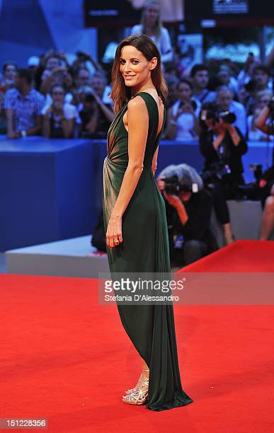 Maria Joao Bastos attends 'Linhas de Wellington' Premiere during the 69th Venice Film Festival at the Palazzo del Cinema on September 4 2012 in...