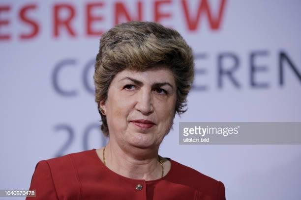Maria Joao Rodrigues portugiesische Politikerin der Partido Socialista Deutschland Berlin Internationale Konferenz anlässlich des...
