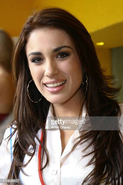 Maria Jose Maldonado Miss Universe Paraguay 2007 during Miss Universe 2007 Contestants Arrive in Mexico City Day 2 at Hotel Camino Real in Mexico...