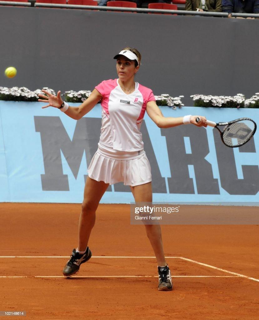 Maria Jose Martinez, ESP, in the tennis 'Mutua Madrilena Madrid Open', 8th May 2010, 'La Caja Magica', Madrid, Spain.