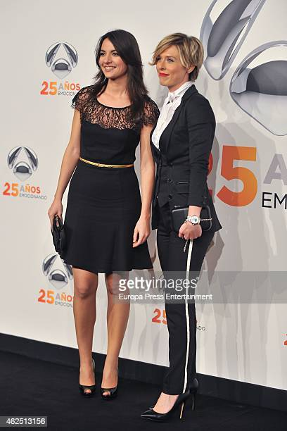 Maria Jose Saez and Esther Vaquero attend 'Antena 3' 25th Anniversary Reception at the Palacio de Cibeles on January 29 2015 in Madrid Spain
