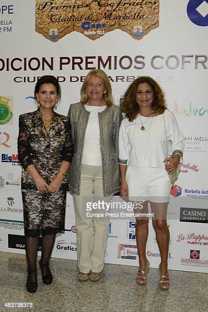 Maria Jose Santiago Angeles Munoz and Lolita Flores attend '2014 Cofrades Awards' on April 9 2014 in Marbella Spain