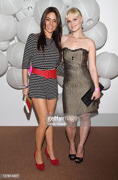 Maria Jose Suarez and actress Ana Layevska attend the Liverpool Fashion Fest Spring/Summer 2011 after party at Liverpool Polanco on February 25 2011...