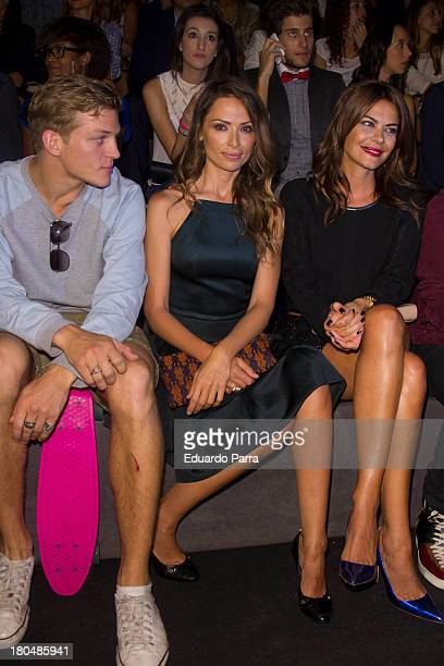 Maria Jose Suarez and Almudena Fernandez attend a fashion show during the Mercedes Benz Fashion Week Madrid Spring/Summer 2014 on September 13 2013...