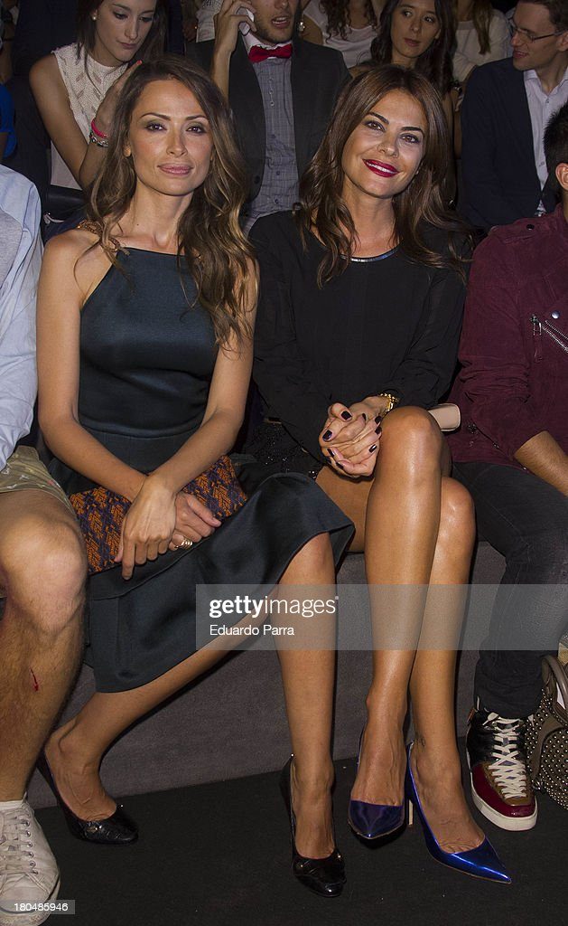 Maria Jose Suarez (R) and Almudena Fernandez attend a fashion show during the Mercedes Benz Fashion Week Madrid Spring/Summer 2014 on September 13, 2013 in Madrid, Spain.