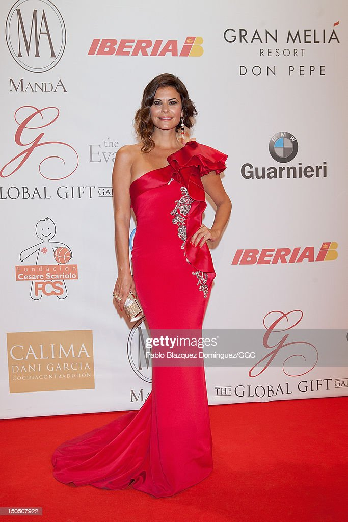 Maria Jose Suarez attends the Global Gift Gala held to raise benefits for Cesare Scariolo Foundation and Eva Longoria Foundation on August 19, 2012 in Marbella, Spain.