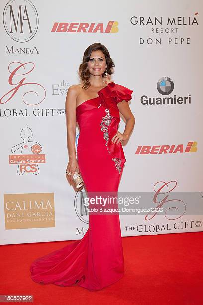 Maria Jose Suarez attends the Global Gift Gala held to raise benefits for Cesare Scariolo Foundation and Eva Longoria Foundation on August 19, 2012...
